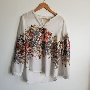 Cleo modern floral blouse